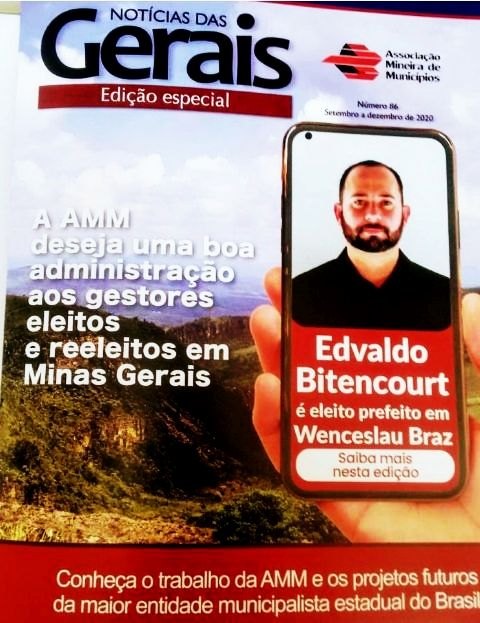 Noticia revista-da-amm-estampa-na-capa-eleicao-do-prefeito-bitencourt